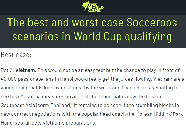Báo Úc: Xin lỗi Thái Lan, chúng tôi muốn gặp ĐT Việt Nam - nhà vua của ĐNA - Bóng Đá