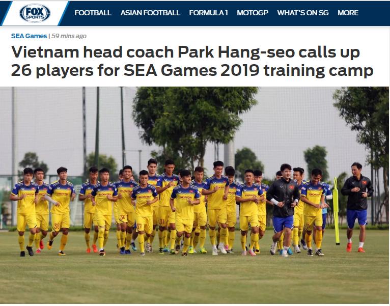 Báo châu Á: HLV Park Hang-seo tập trung 26 cầu thủ, dốc toàn lực