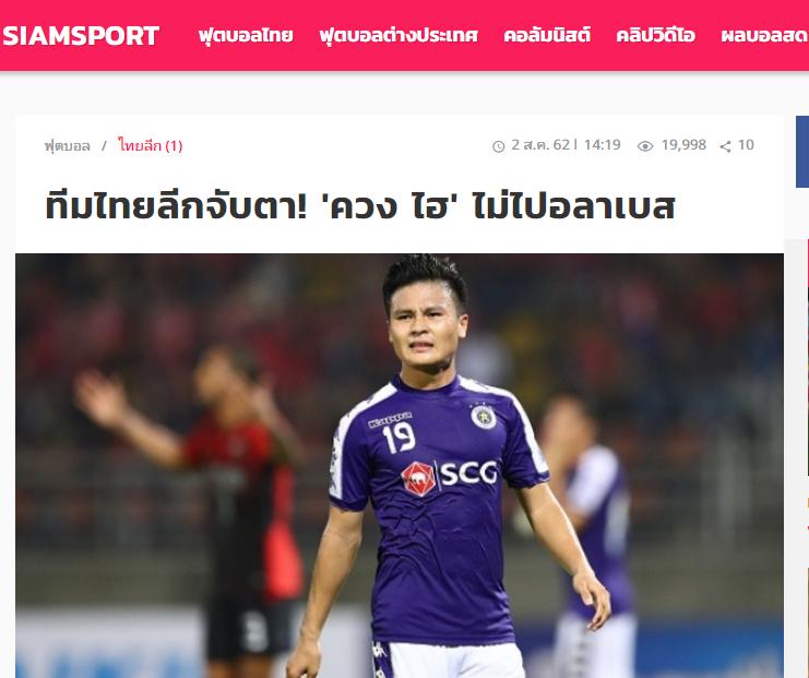 Báo Thái Lan: Quang Hải không đi Tây Ban Nha, các CLB Thai-League mừng thầm - Bóng Đá