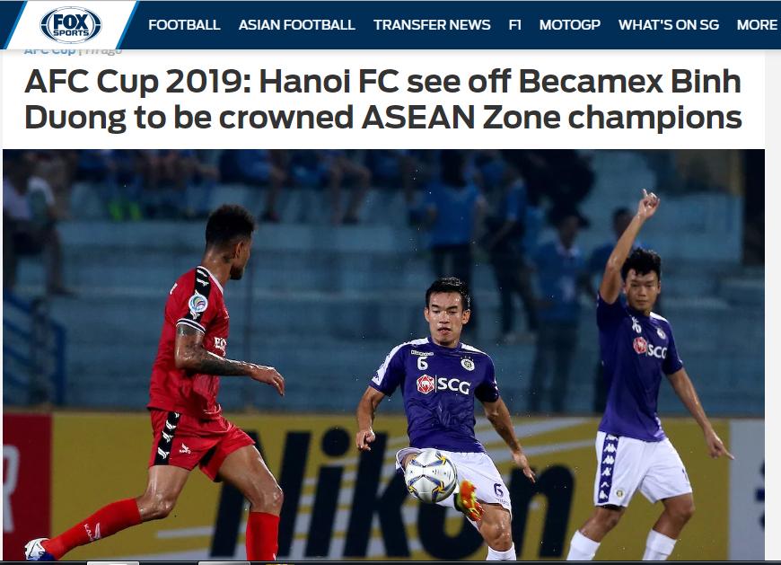 Báo châu Á (Fox Sports) nói về chiến thắng của CLB Hà Nội (sáng lên) - Bóng Đá