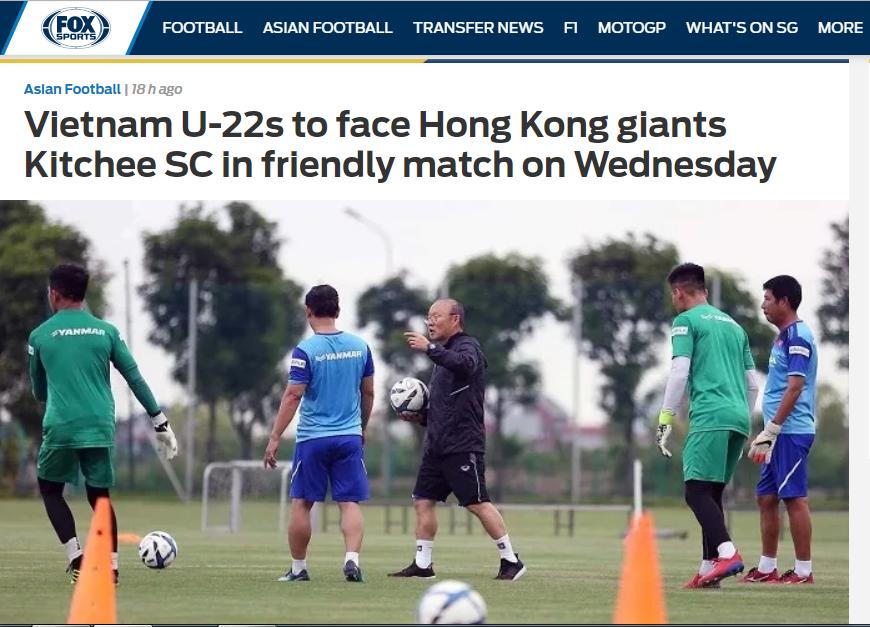 Báo châu Á: U22 Việt Nam sẽ có