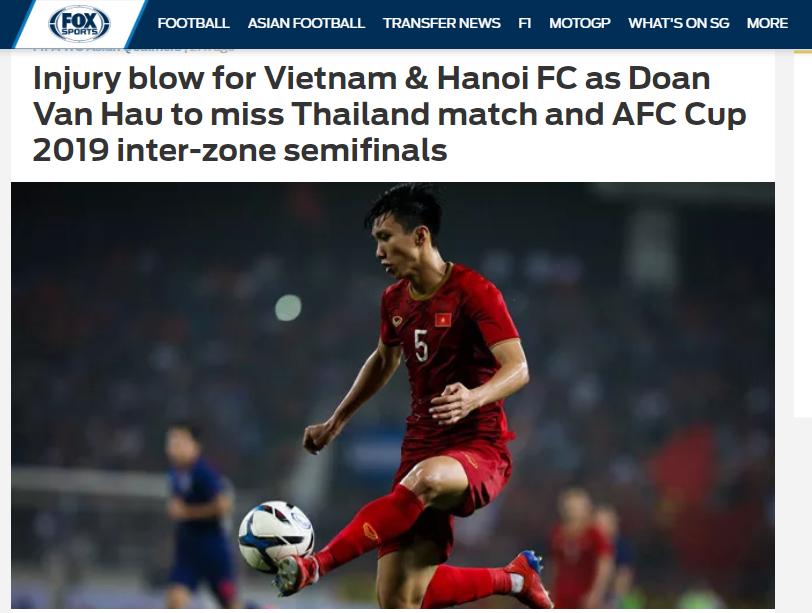 Báo châu Á: Không có cậu ấy, hàng thủ ĐT Việt Nam phải chịu tổn thất lớn - Bóng Đá