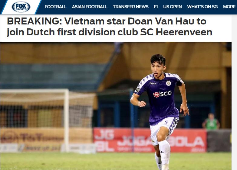 Báo châu Á nói 1 điều về thương vụ Đoàn Văn Hậu đầu quân cho SC Heerenveen - Bóng Đá