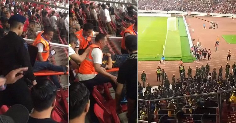 CĐV Indonesia quá khích, tuyển thủ Malaysia rời sân bằng xe bọc thép - Bóng Đá