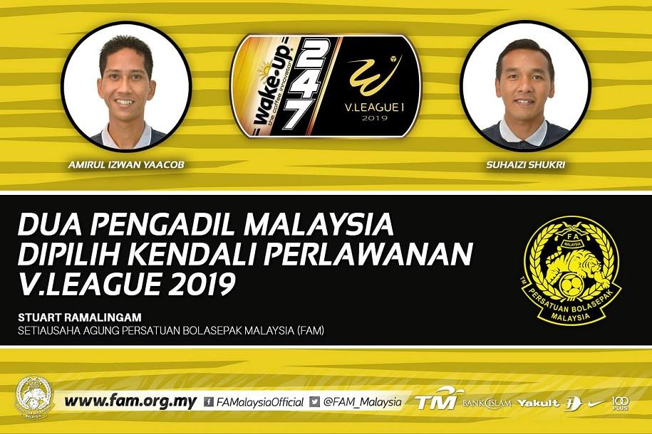 Hai trọng tài Malaysia được