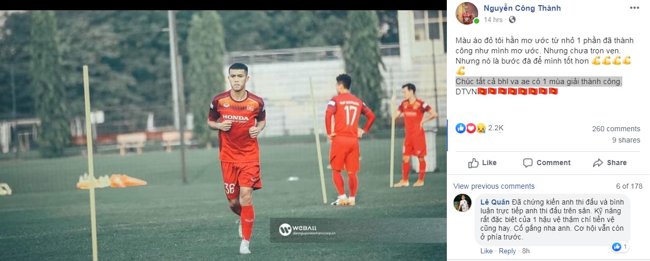 Các tuyển thủ nói lời ruột gan sau khi chia tay ĐT Việt Nam - Bóng Đá