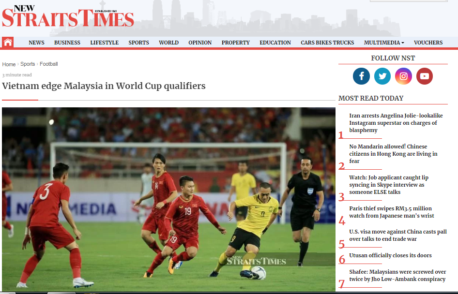 Truyền thông Malaysia: Hổ Malay chưa thể sánh kịp sức mạnh của ĐT Việt Nam - Bóng Đá