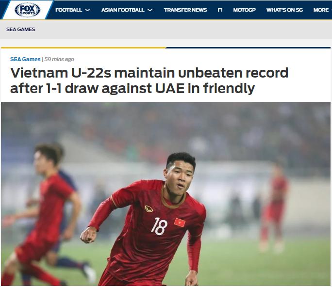 Báo châu Á: Hoà UAE, U22 Việt Nam tạo nên một cột mốc lịch sử - Bóng Đá