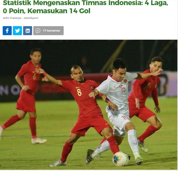 Báo Indonesia: Quá tệ, chúng ta đã thua tan nát trước ĐT Việt Nam - Bóng Đá