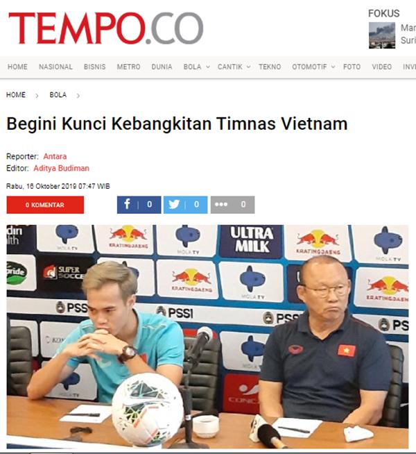 Báo Indonesia: Đây, nguyên nhân khiến chúng ta thảm bại trước ĐT Việt Nam - Bóng Đá