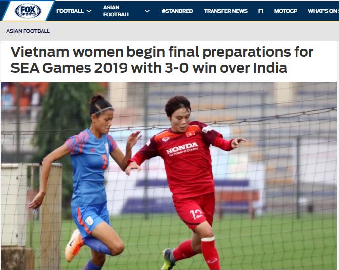 Báo châu Á: Thắng Ấn Độ, Việt Nam thị uy sức mạnh trước thềm SEA Games (Fox) - Bóng Đá