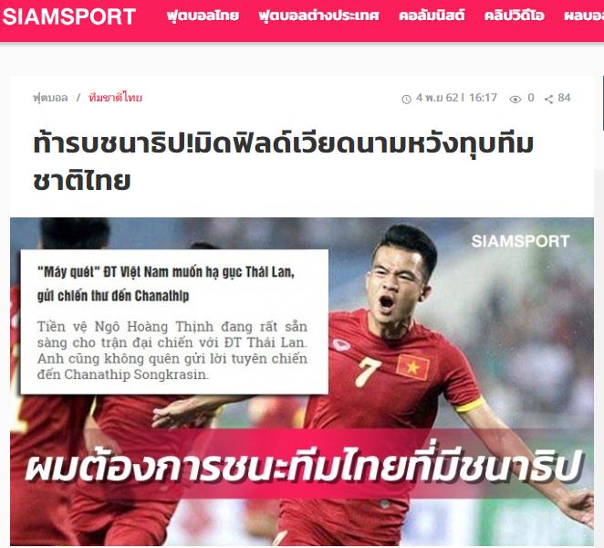 Báo Thái Lan: Chanathip cẩn trọng, tuyển thủ ĐT Việt Nam đã gửi lời