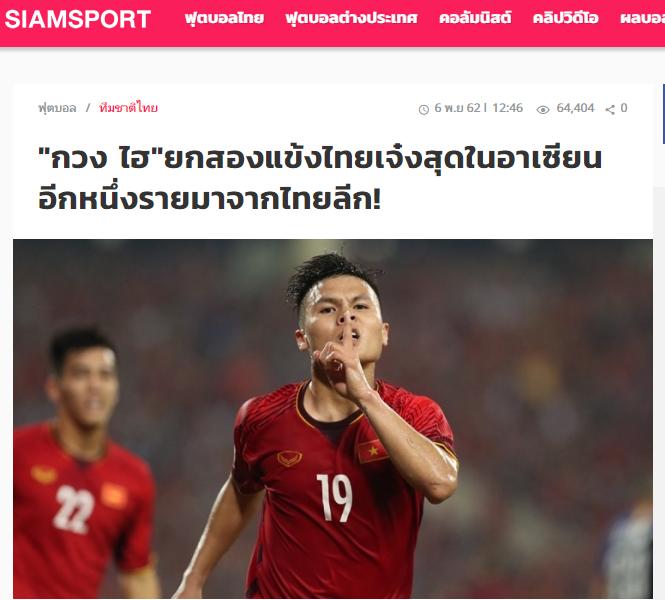 Báo Thái: Quang Hải chỉ ra 2 cầu thủ đáng ngưỡng mộ ở ĐT Thái Lan - Bóng Đá