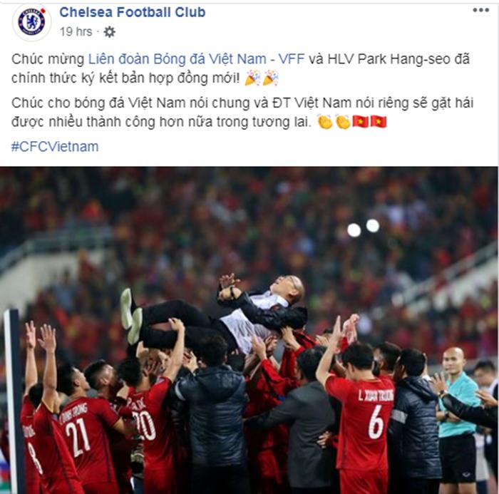 HLV Park Hang-seo gia hạn, Chelsea lập tức tung thông điệp đến ĐT Việt Nam - Bóng Đá