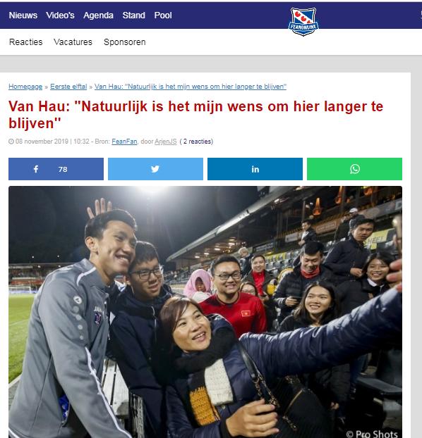 Báo Hà Lan: Văn Hậu muốn làm 2 điều, cam kết gắn bó với Heerenveen - Bóng Đá