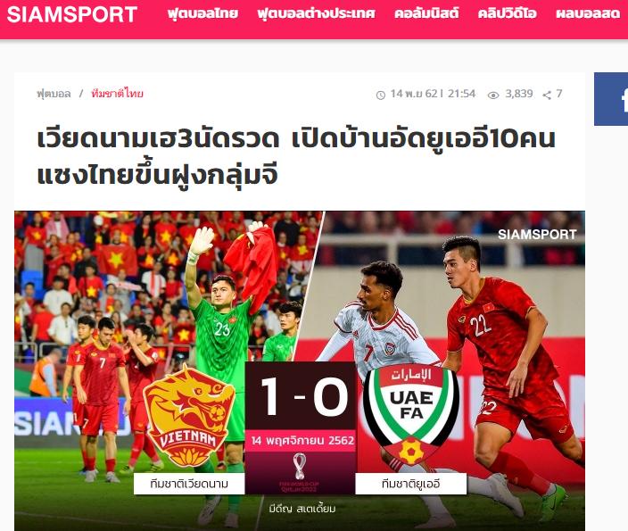 Báo Thái Lan: Nguy to, ĐT Việt Nam hạ gục UAE và dẫn đầu bảng G - Bóng Đá