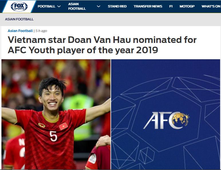 Báo châu Á công nhận 1 điều về Văn Hậu khi lọt vào top 3 châu Á - Bóng Đá