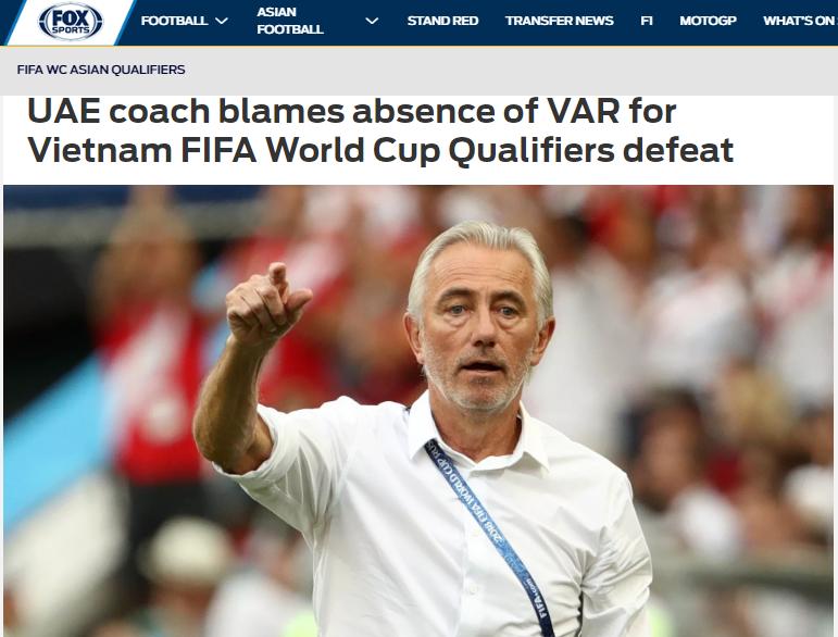 Báo châu Á: Thua ĐT Việt Nam, HLV UAE vẫn cay cú, đổ lỗi cho 1 yếu tố - Bóng Đá