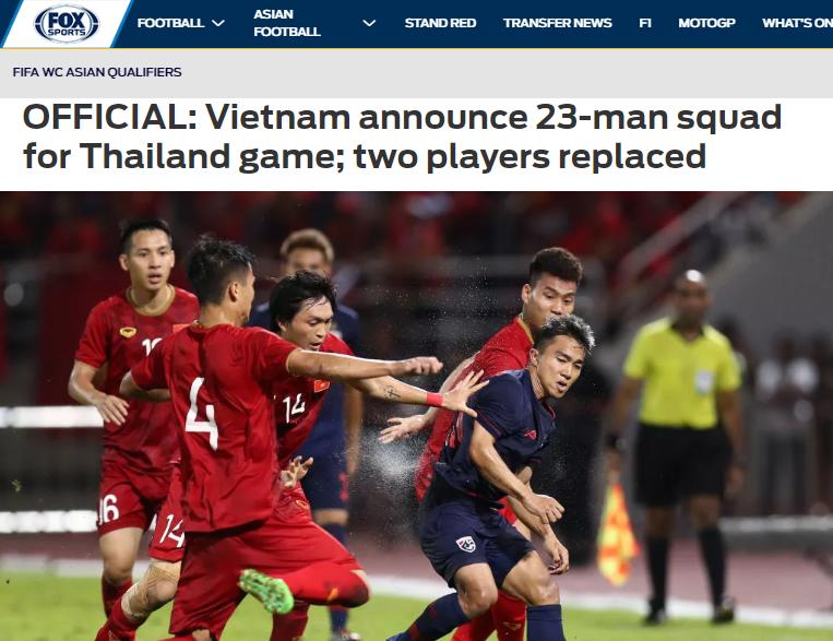 Báo châu Á nói gì về danh sách đăng ký ĐT Việt Nam trận gặp Thái Lan - Bóng Đá