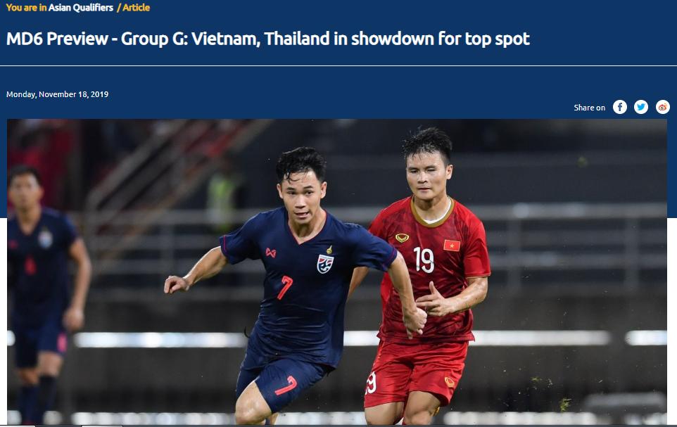 Trang chủ AFC khen ngợi thầy Park, đặt ĐT Việt Nam nằm cửa trên ở trận Thái Lan - Bóng Đá