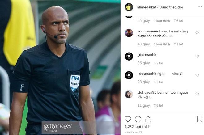 Trọng tài Al Kaf nhận mưa