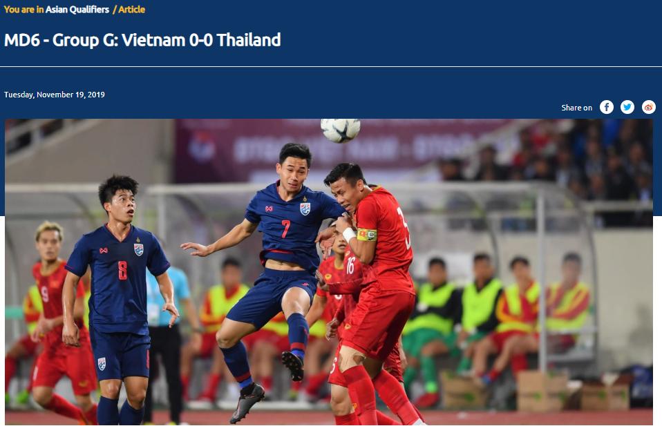 Trang chủ AFC chỉ ra cầu thủ xuất sắc nhất ĐT Việt Nam trận gặp Thái Lan - Bóng Đá