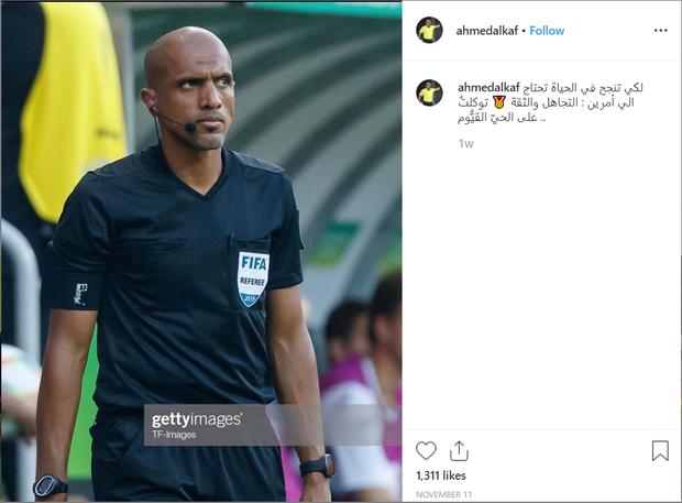 Trọng tài Al Kaf tiếp tục có động thái