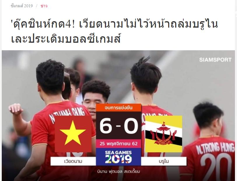 Truyền thông Thái Lan: Cẩn thận, U22 Việt Nam vừa thắng đậm Brunei - Bóng Đá