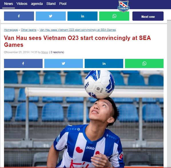 Báo Hà Lan: Không phải bàn, cậu ấy là cầu thủ xuất sắc nhất của U22 Việt Nam - Bóng Đá