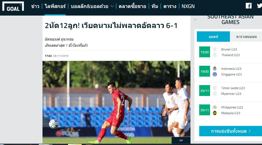 Báo Thái Lan: 2 trận, 11 bàn, U22 Việt Nam khiến Voi chiến không thể bắt kịp - Bóng Đá