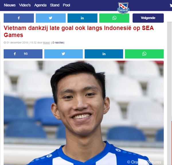 Báo Hà Lan nói 1 điều về bàn thắng siêu phẩm của Hoàng Đức vào lưới Indoneisa - Bóng Đá