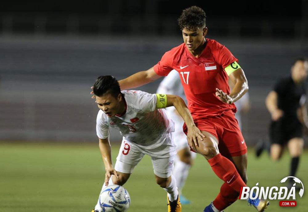 TRỰC TIẾP U22 Việt Nam 0-0 U22 Singapore (Hiệp 1): Quang Hải rời sân - Bóng Đá