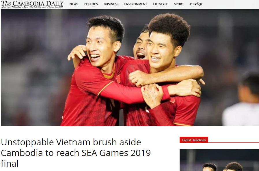 Báo Campuchia nói về trận U22 Việt Nam vs Campuchia - Bóng Đá