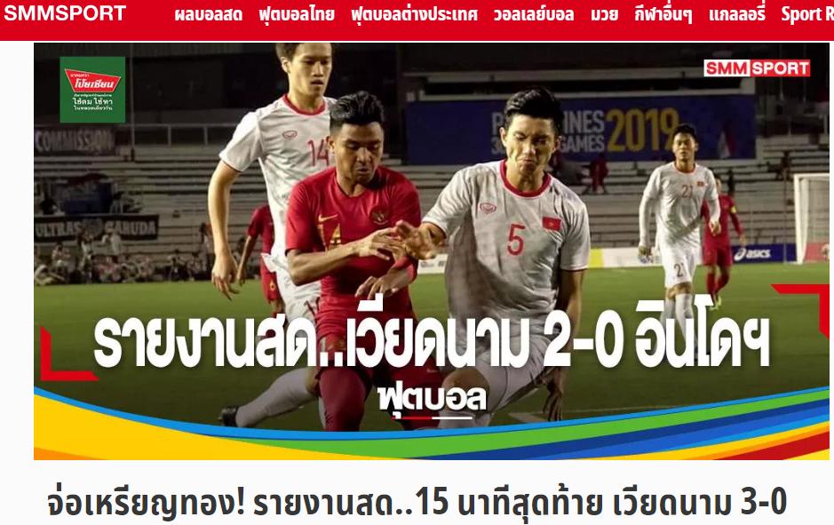 Báo Thái Lan ca ngợi 1 cái tên U22 Việt Nam trong trận thắng Indonesia - Bóng Đá