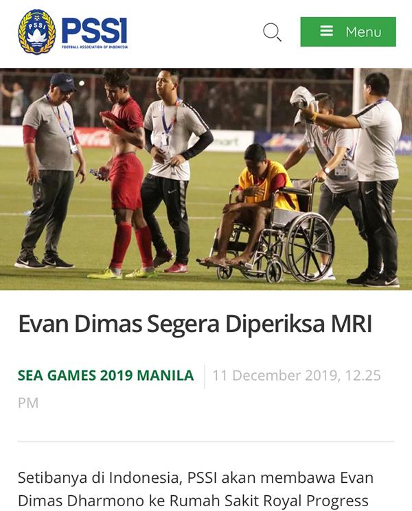 LĐBĐ Indonesia lên tiếng về chấn thương của