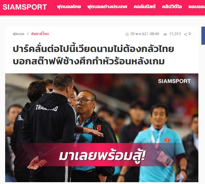 FIFA ra phán quyết sau cùng về vụ trợ lý Thái Lan khiêu khích HLV Park Hang-seo - Bóng Đá