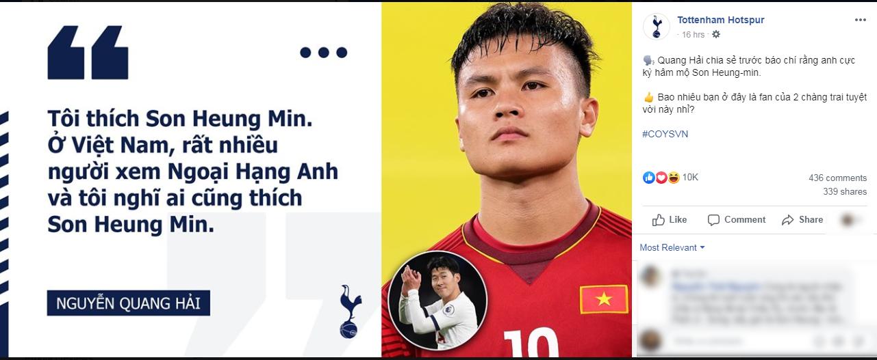Sau Văn Hậu, Tottenham bất ngờ nhắc đến Quang Hải vì 1 lý do bất ngờ - Bóng Đá