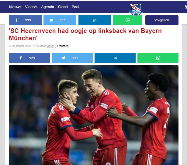 Heerenveen sắp tậu sao Bayern, vị trí của Đoàn Văn Hậu bị đe doạ