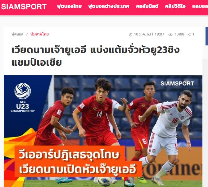 Báo Thái Lan: Nếu sút tốt, cậu ấy đã mang về chiến thắng cho U23 Việt Nam - Bóng Đá