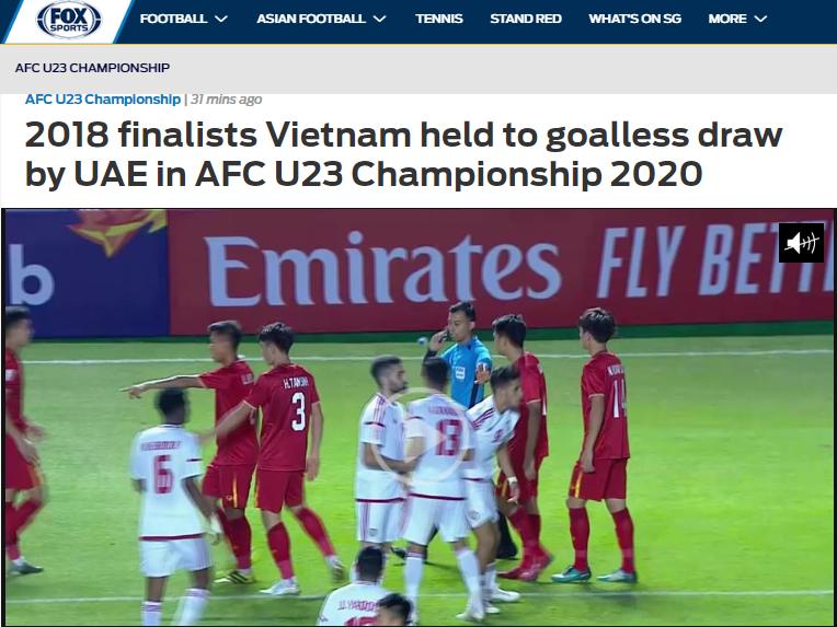 Báo châu Á thán phục 1 cái tên của U23 Việt Nam trong trận hoà UAE - Bóng Đá