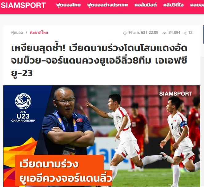 Báo Thái Lan dùng 3 từ để miêu tả thất bại của U23 Việt Nam trước Triều Tiên - Bóng Đá