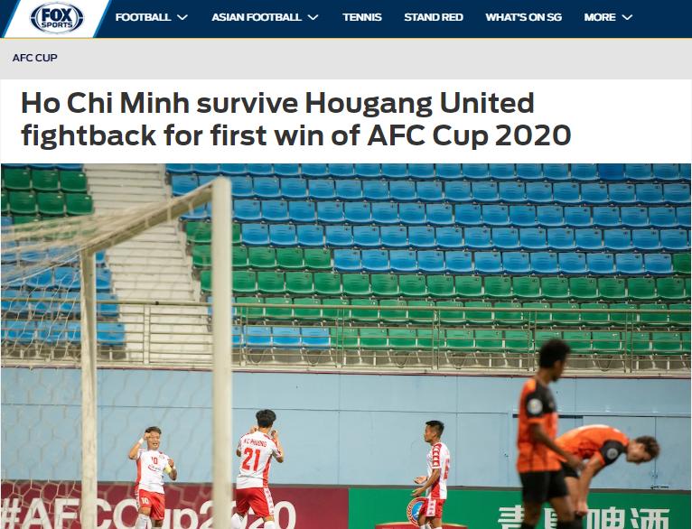 Không phài Công Phượng, báo châu Á chỉ ra cái tên xuất sắc CLB TP.HCM trận Hougang - Bóng Đá