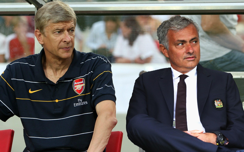 Giáo sư Wenger và Jose Mourinho