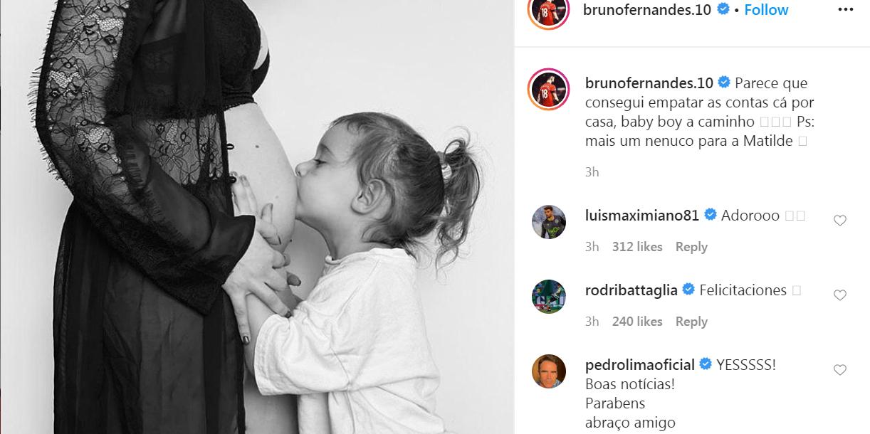Bruno Fernandes thông báo tin cực vui giữa tâm dịch COVID-19 - Bóng Đá