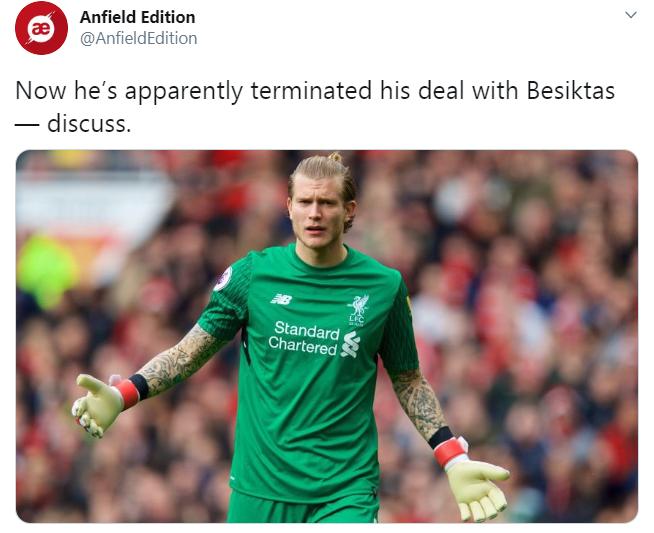 Karius sắp rời Besiktas, CĐV Liverpool lập tức