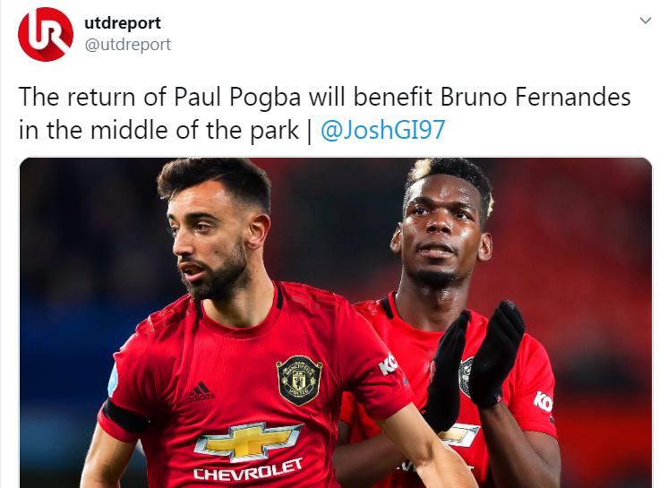 CĐV Man Utd: Bruno Fernandes sẽ đá tốt hơn nếu không có Pogba phải không? - Bóng Đá