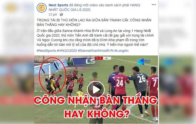 NHM Việt Nam chỉ trích trọng tài Vũ Ngọc Cường sau hàng loạt quyết định