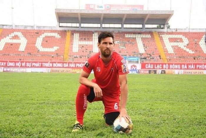 Bất ngờ với loạt ảnh chế Lionel Messi bỏ Barcelona về Việt Nam đá V-League - Bóng Đá