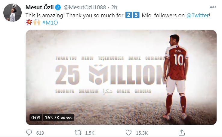 Bị ra rìa ở Europa League, Mesut Ozil gửi ngay thông điệp đến NHM Arsenal - Bóng Đá