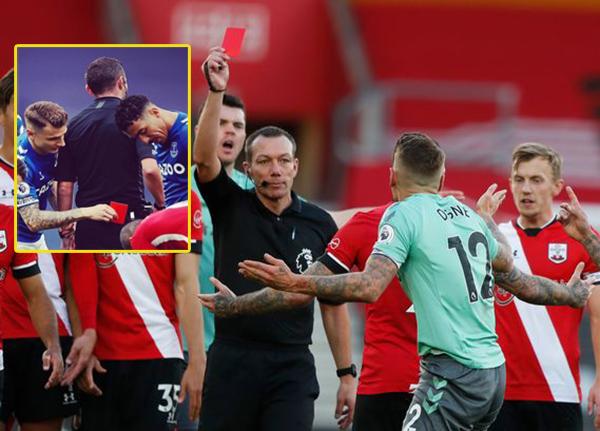Digne nhận thẻ đỏ, fan Liverpool